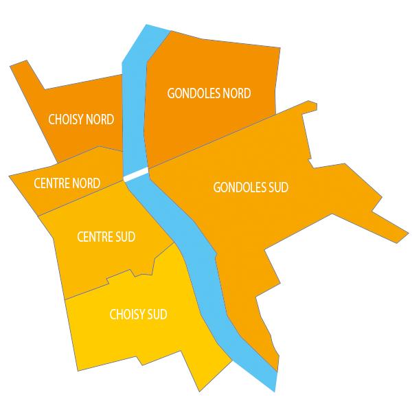 carte des quartiers