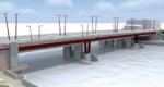 Pont de Choisy : travaux d'aménagement de la passerelle piétonne
