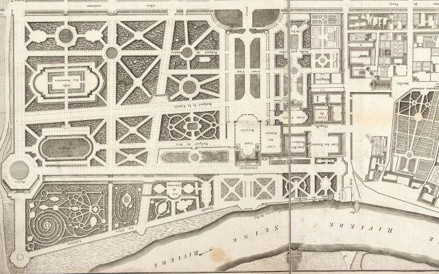 Plan du domaine royal en 1783 par Gauché, Bibliothèque Nationale de France