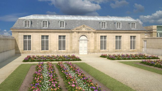 Jardin fleuriste Aménagé vers 1750, le jardin fleuriste était un espace couvert de plates-bandes de fleurs rares et précieuses. Les fleurs à bulbes, jacinthes, tulipes, anémones, renoncules, étaient achetées en grande quantité en Hollande, et changées régulièrement pour que le jardin soit toujours fleuri. ©Aristeas